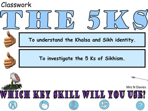To 5ks by The 5 Ks By Toriruth89 Teaching Resources Tes