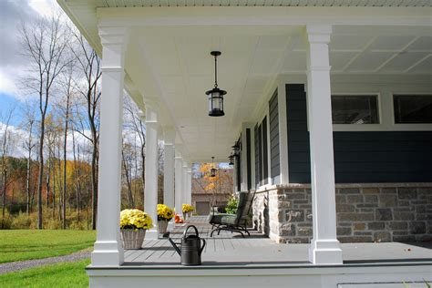 Replacing Wood Paneling by Beautiful Porch Columns Technique Ottawa Traditional Porch