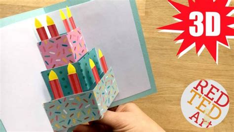make birthday cards with photos easy pop up birthday card diy ted s