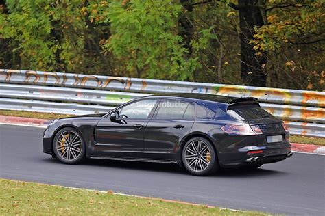 old hatchback porsche 2018 porsche panamera sport turismo wagon spotted with