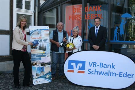 www vr bank schwalm eder vr bank 252 bergibt reisegutschein im wert 10 000