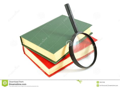 Novel Glass books and magnifying glass royalty free stock photos image 3841558
