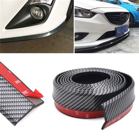 Wrc Carbon Fiber Car Door Bumper Pelindung Pintu 2 5m carbon fiber car styling strips sticker kit wrap protector protcetion front bumper