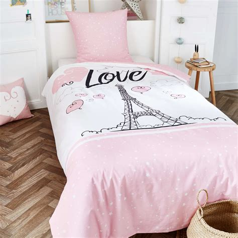 lit 1 personne blanc parure de lit 1 personne tour eiffel linge de lit