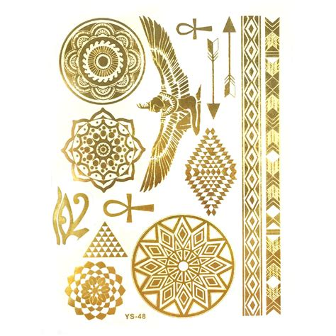 henna tattoo gold amazon wrapables inspired temporary