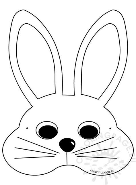 easter bunny face coloring pages to print white easter bunny mask craft ideas coloring page
