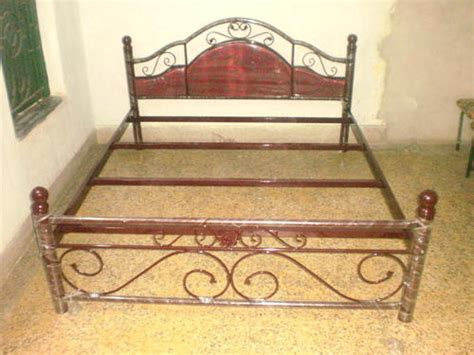 furniture iron bed with rexin manufacturer from kolkata
