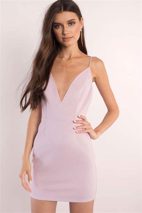 Mauve Bodycon Dress - mauve bodycon dress v dress purple dress