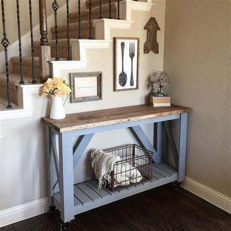How To Make A Rustic Entryway Table