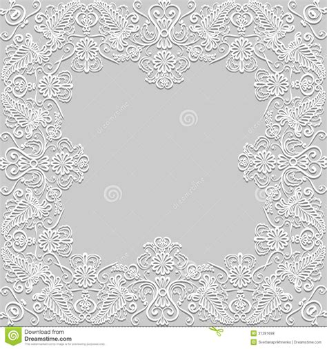 Die Cut Border Paper Bahan Scrapbook Vintage Floral paper lace frame stock photo image of roses lace