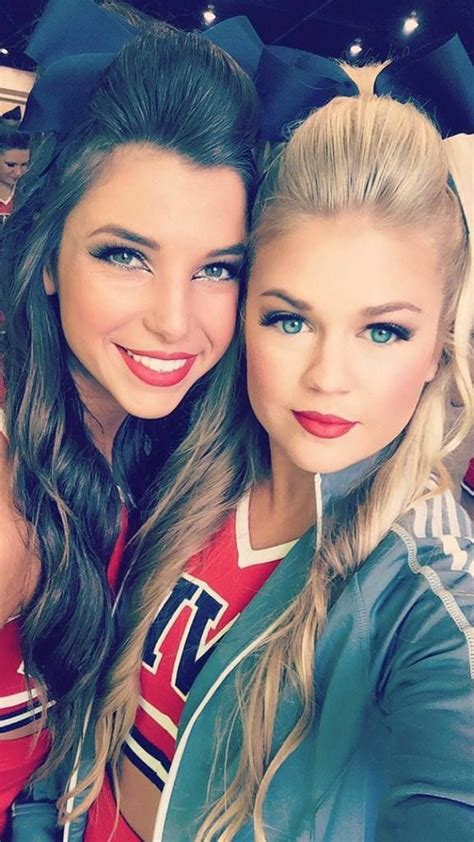 college cheerleading hairstyles 246 best college cheer images on pinterest college