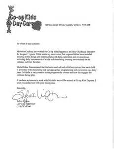 Letter Of Recommendation For Child Care by Letter Of Recommendation For Daycare Provider Khafre
