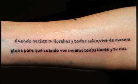 imagenes de frases de la vida para tatuajes tatuajes de frases de la vida en espa 241 ol imagui