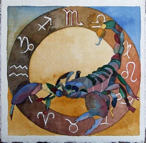 skorpion sternzeichen tierkreiszeichen skorpion bilder aquarelle vom meer