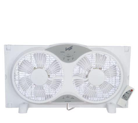 window fan with remote comfort zone 9 quot reversible 3 speed twin window fan w