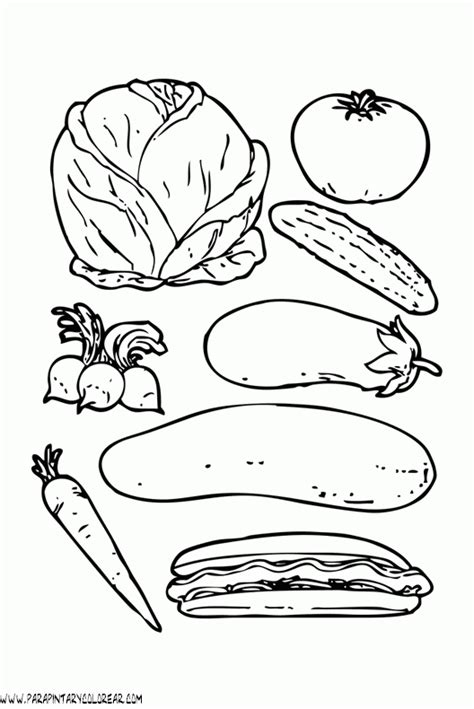 imagenes para pintar verduras dibujos de verduras 002