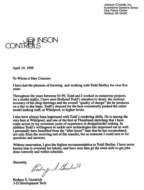 reference letter of recommendation sample letter of with regard to