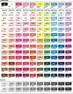 prismacolor marker color chart prismacolor pencils 150 chart complete triart marker