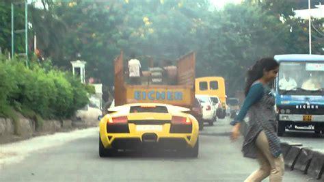 Lamborghini Yellow Price In India Lamborghini Murcielago Spotted In Hyderabad India