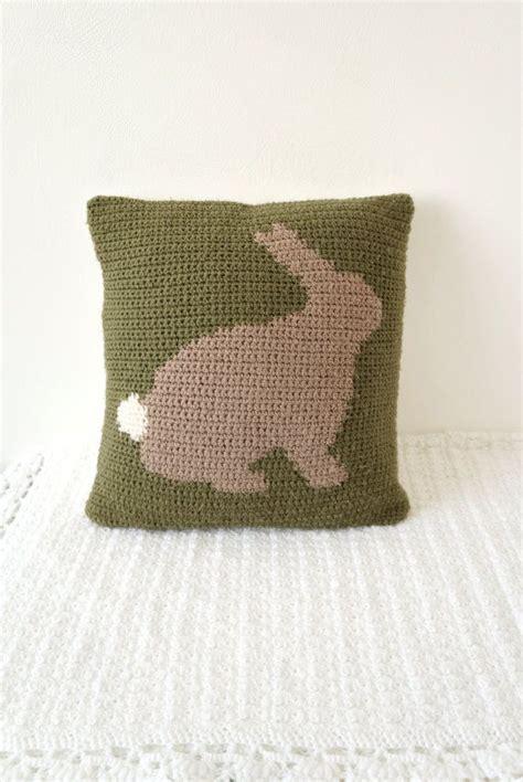 Pillow Pdf by Bunny Rabbit Cushion Pattern Pillow Pdf Crochet Pattern 14 Quot X14 Quot Kitsc