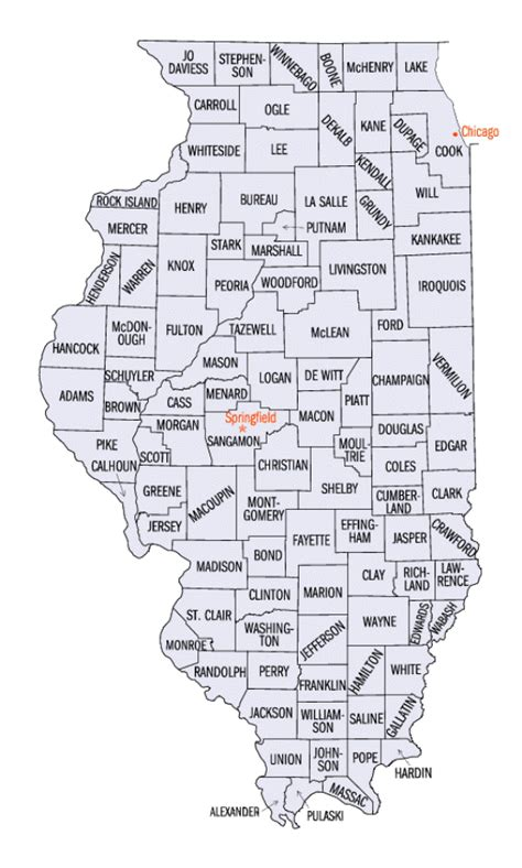 il county map illinois county map