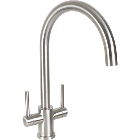 mixer tap for kitchen sink dava stainless steel kitchen sink mixer tap toolstation