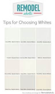 White Paint Colors by Remodelaholic Tricks For Choosing The Perfect White