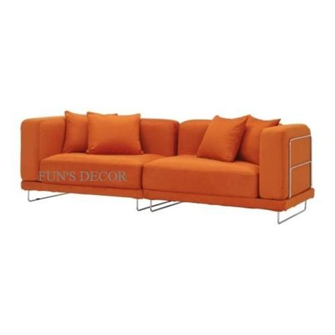 orange slipcover sofa new ikea tylosand 3 seat sofa couch cover slipcover