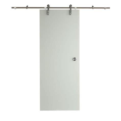 Sliding Glass Door Kit Pinecroft 32 In X 81 In Glass Barn Door With Sliding Door Hardware Kit 8bdgl3080ice The