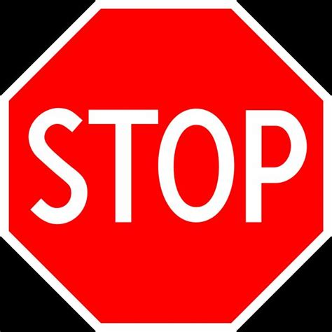 stop sign template stop sign blank template imgflip