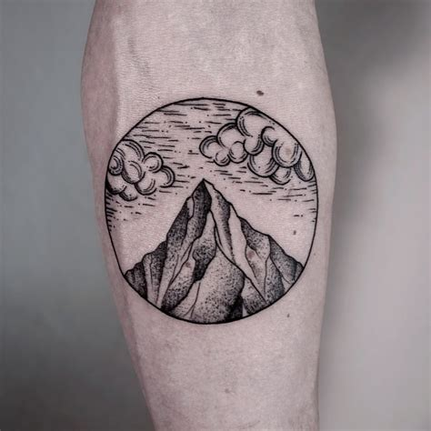 black circle tattoo 50 sleeve mountain tattoos