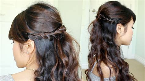 nice hairstyles with the wand prom hairstyle braided half updo feat nume reverse