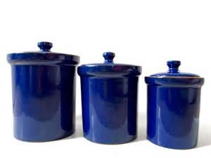 Blue Kitchen Canister by Cobalt Blue Ceramic Canister Set Made In Italy Italian