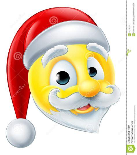 christmas emoticons santa claus emoji emoticon stock vector illustration of character 59116337