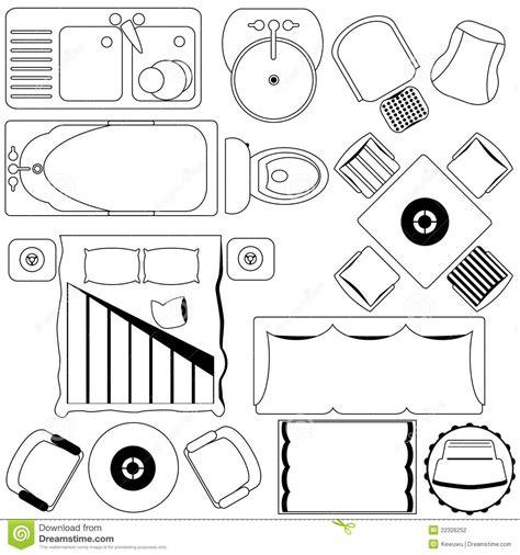simple furniture floor plan set2 stock vector art more simple furniture floor plan outline stock vector