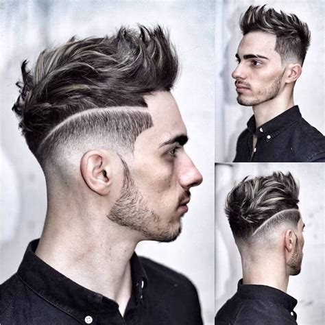 cheveux chatain meche grise coloration des cheveux moderne coiffure homme meche grise