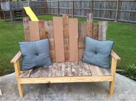 diy outdoor bench plans 15 diy outdoor pallet bench pallet furniture plans