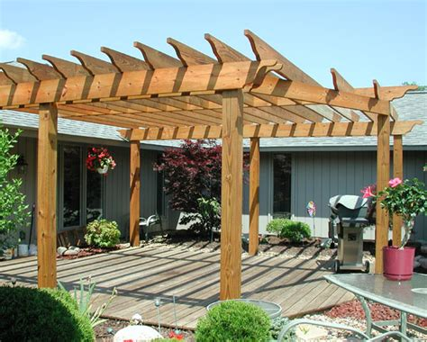 Custom Wood Pergola By Elyria Fence Wood Pergola Designs