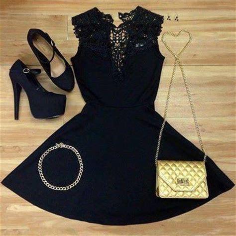 black dress accessories pictures