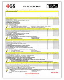 What S A Template by 5s Project Checklist Visual Workplace Inc