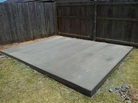 Average Cost Of Sted Concrete Patio by Concrete Slab For Our Shed Concrete Sheds