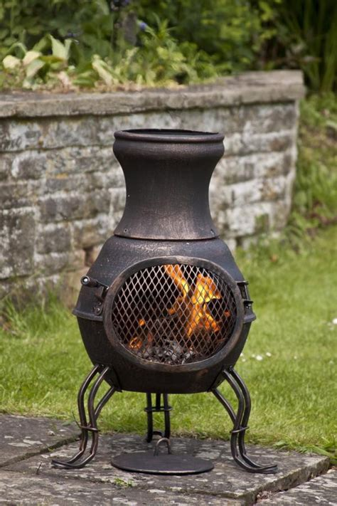 patio wood stove cast iron chimenea chiminea garden heater wood burning