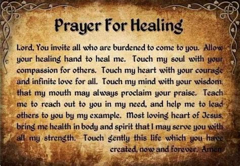 prayer for healing catholic christian faith