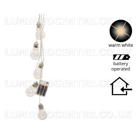 Lu Warm White lumineo lightbulb lights battery operated