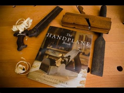 traditional woodworking books  handplane book