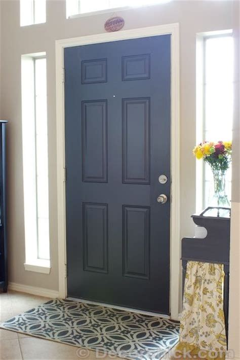 Best Black Paint Color For Interior Doors Painted Black Interior Doors Before And After October 2013 Www Decorchick Door Color