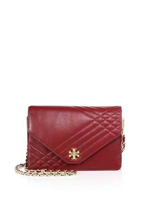 Tas Wanita Burch Quilted Shoulder Bag burch quilted leather chain shoulder bag in agate lyst