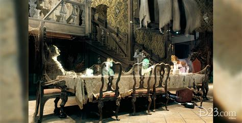 Gothic Dining Room by Summoning Memories Of The Haunted Mansion S Opening Night D23