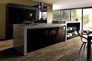 beautiful Contemporary Style Kitchen #1: Ultragloss-Black-Kitchen.jpg