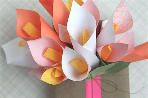 Flowers Out Of Paper - flowers out of paper quot calla quot house